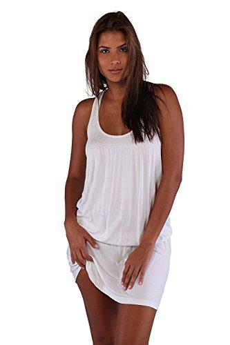 Ingear Smocked Tank Dress (Small/Medium, White)