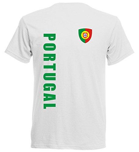 Portugal Baby - T-Shirt Trikot 92 98 104 116 - EM 2016 - Nr. 7 - Weiss (92)