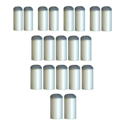 Bank Shot Billiards Set of 20 Assorted Slip On Pool Cue Tips 7 Sizes