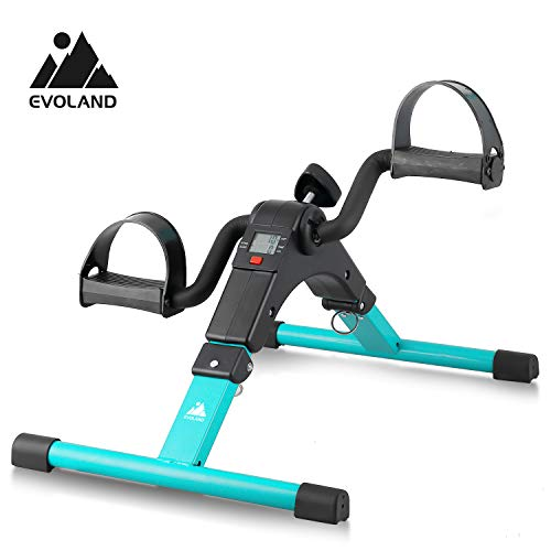 EVOLAND Mini Bike, Arm und Beintrainer Heimtrainer, Hometrainer, Fitnesstrainer, Sportgerät, Minifahrrad Bewegungstrainer Fitnessgerät für Zuhause Büro