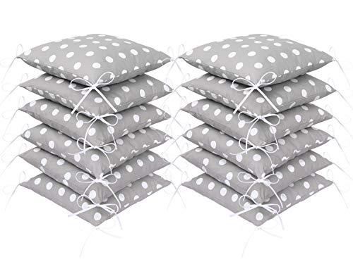 Amilian® Baby Nestchen Bettumrandung 420 cm Design: Pünktchen grau Bettnestchen Kantenschutz Kopfschutz für Babybett Bettausstattung