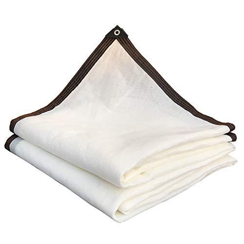 YXX-Filet d'ombrage Blanc Tissu D'ombrage pour Plantes Et Serres - 80% Écran Solaire Pare-soleil avec Oeillets pour Tentes De Plage Et Lits D'extérieur (Size : 3mx6m)