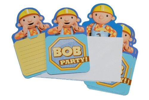 alles-meine.de GmbH 12 TLG. Set Einladungskarten Bob der Baumeister + Umschlag Party Einladung Karte Baustelle Mixi