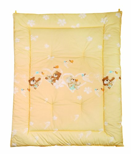 Julius Zöllner 9500010064 - Couverture de sol bébé - Motif ourson - Vanille - env. 95 x 135 cm
