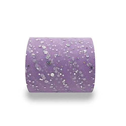 AJULING Ancho de 25 yardas6.5cm Glitter Sequin Tulle Roll Decoración de la Boda Tutu Tutu Organza Laser Bricolaje Cumpleaños (Color : 35 Purple Red, Size : 1pc)