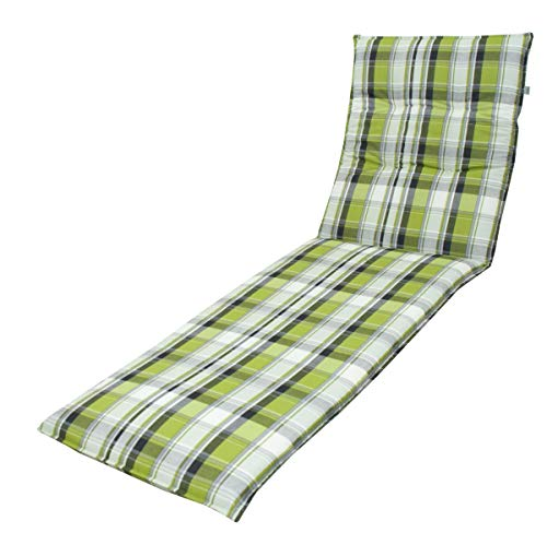 "DP 7 cm Rollliegenauflage Living 5336"", grün anthrazit kariert, 190 x 60 cm, Made IN Europe"