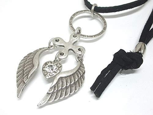 天使の羽根のチョーカー (アンティーク調シルバー仕上げ)