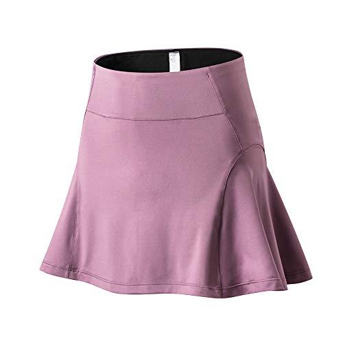 Women's Sports Skirt Breathable Skirt with Uv Protection Mini Skirt Hockey Skirt Hiking Tennis Skirt High Waist Sports Skirt D-Pink S