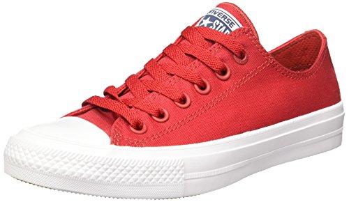 Converse Converse Unisex-Erwachsene Ct As Ii Ox Tencel Low-top, Rot/Weiß, 36.5 EU