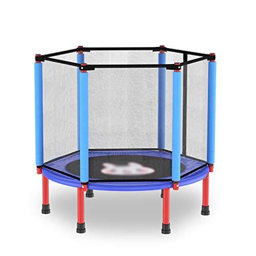 XUEYAN Cuerda de Salto de trampolín Plegable Cama elástica elástico de Cama elástica Inicio Camas for niños de 40 Pulgadas trampolín trampolín Neto Muelle (Color : Blue, Size : 40 Inch)
