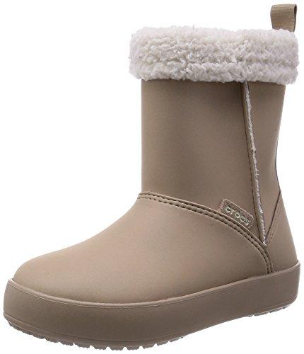 crocs Mädchen Crcs Colorlite Bt GS Stiefel & Stiefeletten, Beige (Tumbleweed/Oatmeal), 36-37 EU