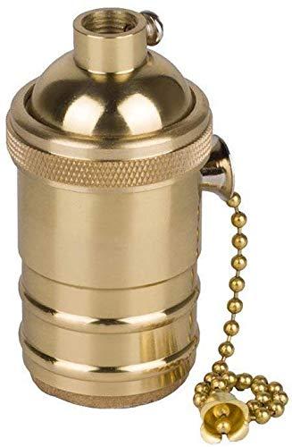BETOY Vintage Lampenfassung E27 mit Pull Kette Schalter für DIY Edison Pendelleuchte Hängelampe Halter Zubehör, antikes Edison-Glühbirnen, Pendelleuchte, Wandkonus