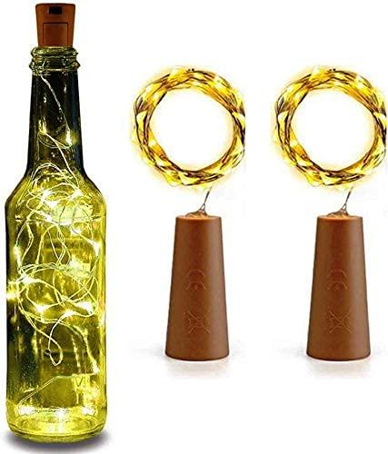 Sataanreaper Presentscorcho De La Botella Cadena Luces Led para Las Luces De Vino Botella Botellas Corcho - Corcho De La Botella Tiras De Luz Se Enciende para La Navidad#SR-0158