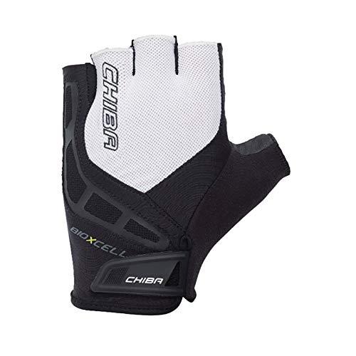 Chiba BioXCell Fahrrad Handschuhe kurz schwarz/weiß 2017: Größe: L (9)
