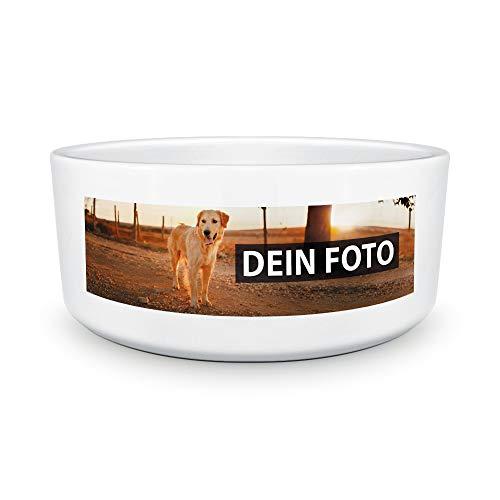 Hundenapf selbst individuell gestalten/Personalisierbar mit eigenem Foto Bedrucken/Fototasse/Motivtasse/Werbetasse/Firmentasse mit Logo/Hundenapf - 18 cm Durchmesser