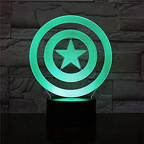 3D-nachtlampje, nachtlampje, 3D-lampje, het bord voor de decoratie van het nachtkastje, touch-sensor, nachtlampje, led, uniek cadeau voor je kind
