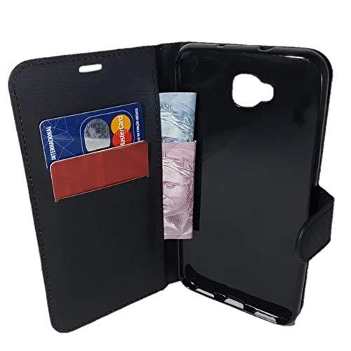 Capa Carteira Asus Zenfone 4 Selfie ZD553KL (Tela de 5.5 - Cor Preta) Capinha Case Flip