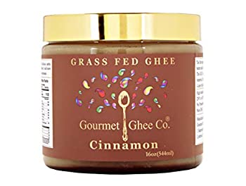 Gourmet Ghee Co - Cinnamon Ghee Clarified Butter - Grass-Fed Pasture-Raised Non-GMO Lactose & Casein Free All-Natural Ingredients Cinnamon 16 OZ