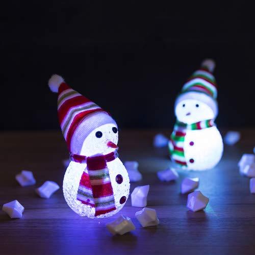 Lote de 20 Figuras con Luz LED Navidad Muñeco de Nieve con LUZ - Regalos de Navidad, Decoración, Regalos de...