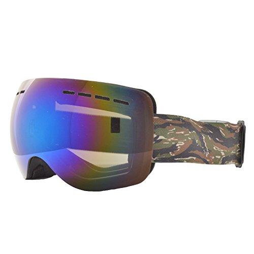 REVERSE EDGE(リバースエッジ) スノーボード ゴーグル ケース付き メンズ レディース a-goggle-ESG1752-BK-TC