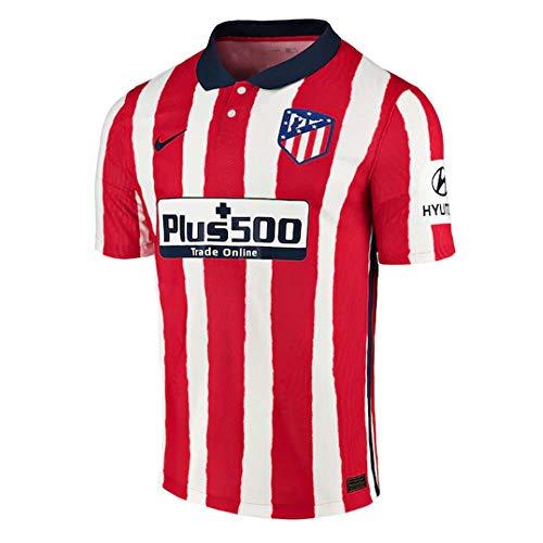 NIKE ATM M Vapor Mtch JSY SS Hm T-Shirt, Hombre, Sport Red/Midnight Navy Full Sponsor