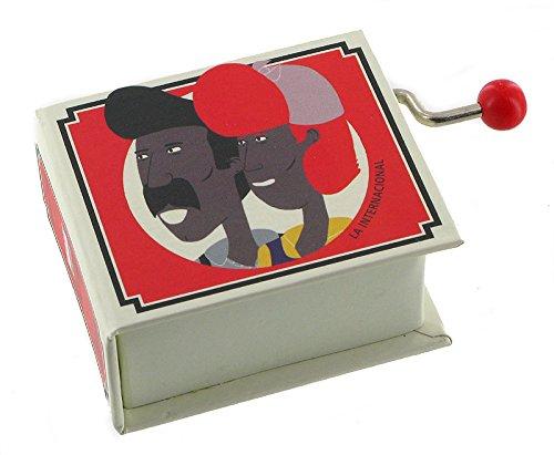 Caja de música / caja musical de manivela de cartón en forma de libro - La Internacional (Pierre Degeyter)