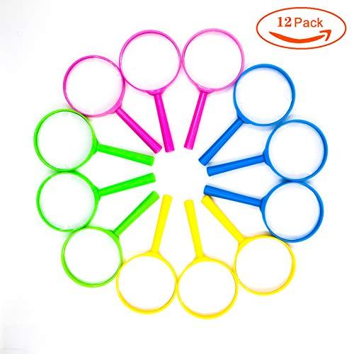 Lupas plásticas de Mano para niños pequeños de Mano niños Ciencia Experimento Lupa Coloridas