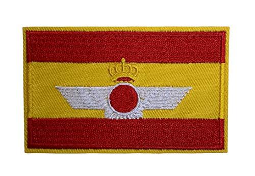 Gemelolandia | Parche Bandera de España Ejercito del Aire 8x5 cm | Muy Adherentes | Patch Stickers Para Decorar Tu Ropa | Fáciles de Poner en Chaquetas Pantalones Camisas y Objetos de Tela