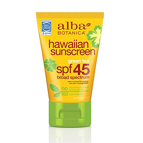 Alba Botanica Green Tea Hawaiian SPF 45 Sunscreen, 4 oz.