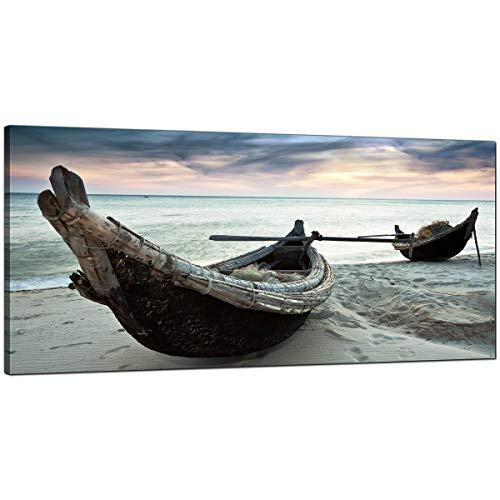 Grande tela stampe di spiaggia tropicale barche per il tuo ufficio–Cheap Seaside Wall Art–1107–Wallfillers