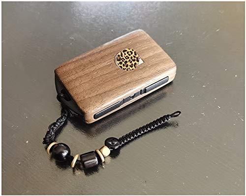 Cubierta de llave del coche 1sEn la entrada sin llave Control remoto Refita el reemplazo de la cáscara de la llave del automóvil de madera para VOLVO 2015-2018 xC90 S90 V90 2018 XC60 (caja solamente)