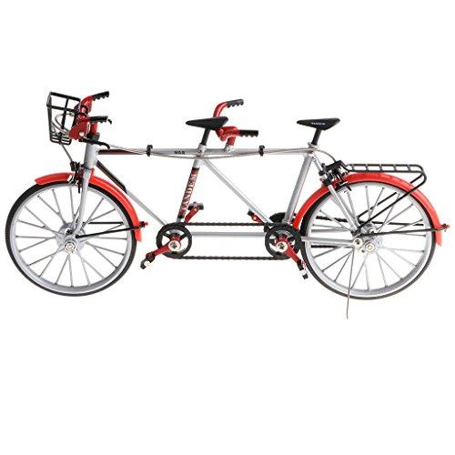 non-brand Sharplace 1:10 Legierung Diecast Tandem Fahrrad Rennrad Modell für Schaufenster, Geschenk Oder Kollektionen - Rot