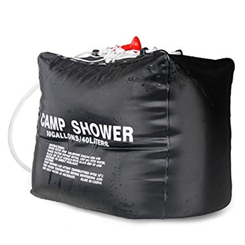 GFPR Camping-Dusche, tragbare Outdoor-Solar-Warmwasser-Flasche waschen Badetasche Sonne Bewässerung Tasche Haushalt Outdoor Badedach Duschtasche 40l