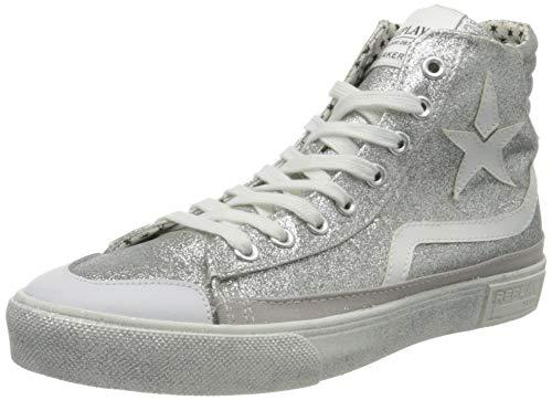Replay Damen Ever W-WELSEY Hohe Sneaker, Silber (Silver 50), 41 EU