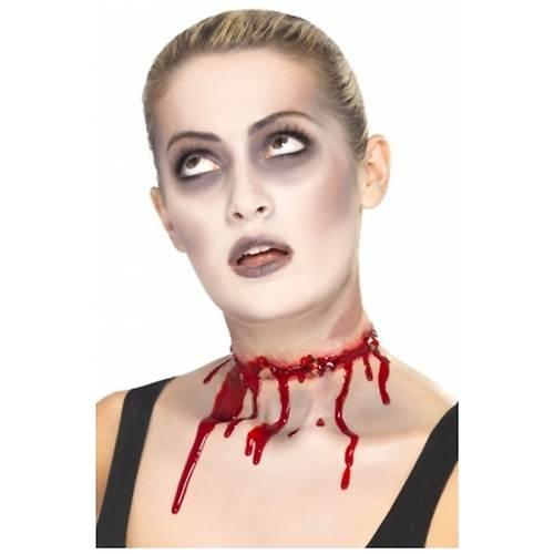Halloween bloedige prikkeldraad Split Scar gespoten nek Fancy jurk Latex Choker