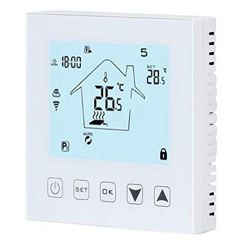 Termostato de Suelo Radiante, Controlador de Temperatura Inteligente Seguro, Control Remoto WiFi antiinterferencias de Pantalla táctil para válvula de Bola eléctrica