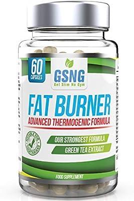 Fat Burner Weight Loss Pills – Metabolism Support, Appetite Suppressant - Green Tea Extract Lean Slimming Diet Supplement for Men & Women - Premium UK Manufacture – 60 Vegetarian Capsules - GSNG