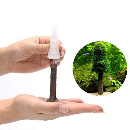 Deeabo Simulation Weihnachtsbaum Moosbaum, Simulation Weihnachtsbaum Wasser Gras Landschaftsbau Baum Mini Wasser Kunststoff Pflanzen Aquarium Dekoration