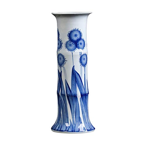 Vase Céramique Vase Classique de Tournesol en céramique for Vivre Déco Art Accueil Ménage Chambre Chambre Bureau Table avec White Base 18 x 47 cm