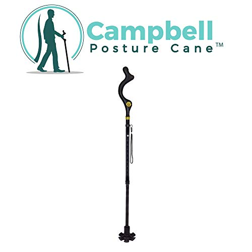 Campbell Posture Cane Foldable Walking Cane for Men and Women - FSA/HSA Eligible - Editorial Recommended