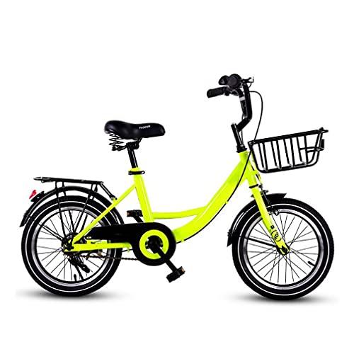 DHMKL 16 Pulgadas Bici Infantiles Bicicletas NiñOs,Marco Acero con Alto Contenido Carbono/Asiento Ajustable/Bicicleta Ligera para Estudiantes Adultos/Mujeres/Apto para NiñOs 6 A 10 AñOs