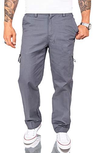 Rock Creek Herren Cargo Hose Chinohose Seitentaschen Outdoor Stoffhose Cargohose Chinos Outdoor Hosen für Männer Kargohosen H-234 Grau 3XL