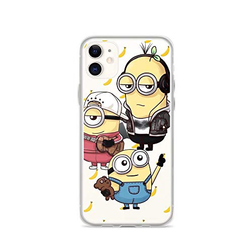 Horseshoe's Compatible with iPhone 11 Case Stuart The Minion Happy Face American Animated Movies Pure Clear Phone Cases Cover