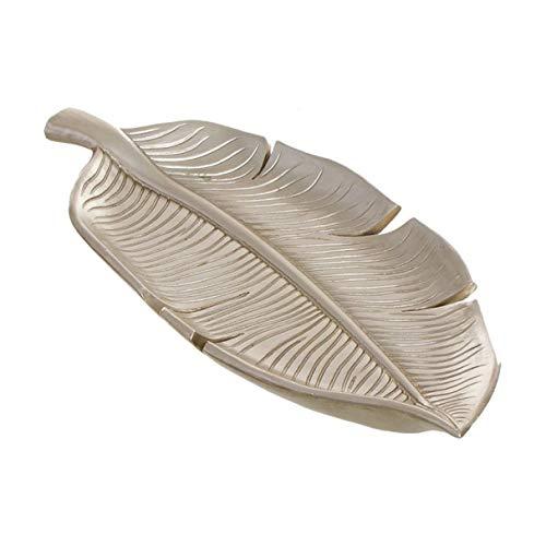 Vide-poches décoratif en résine feuille dorée 24 cm