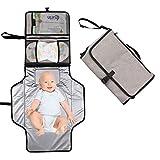 Cambiador Portátil de Pañales para Bebé, Hommie 2 EN 1 Plegable Cambiador de Pañales...