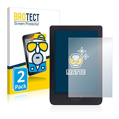 BROTECT 2X Entspiegelungs-Schutzfolie kompatibel mit Tolino Shine 3 Displayschutz-Folie Matt, Anti-Reflex, Anti-Fingerprint