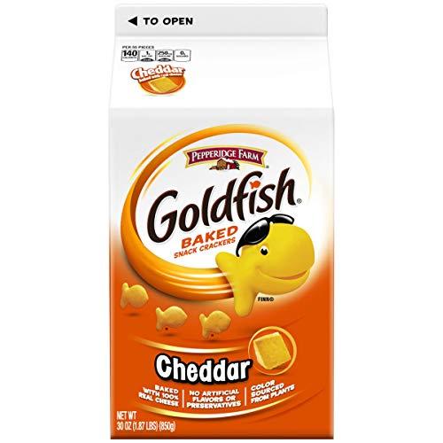 Pepperidge Farm Goldfish Cheddar Crackers, 60 Oz Box, 2-Count 30 Oz Cartons