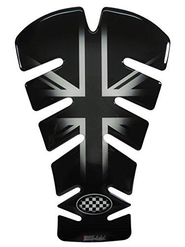 Tankpad 3D 500721 Union Jack Silver Tank-Schutz für Motorrad-Tank