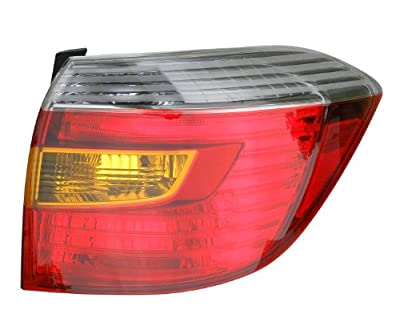 Epic Lighting OE Fitment Replacement Rear Brake Tail Light Assembly Compatible with 2008-2010 Highlander [TO2801174 8155148170] Right Passenger Side RH