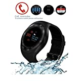 SUNETLINK Bluetooth Smart Watch, Smart Watches with Touch Screen, Android Smart Watch Phone Fitness Tracker with SIM/SD Card Slot Smartwatch Compatible with Android Phones iOS for Women Kids Men